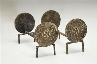 Isabelle de Borchgrave Chenets bronze 2 3600EUR