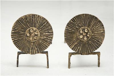Isabelle de Borchgrave Chenets bronze 3600EUR