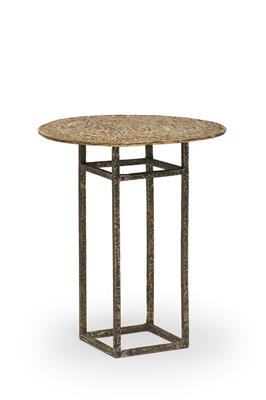Isabelle de Borchgrave Table bistro en bronze 26x26x69xdia59.JPG