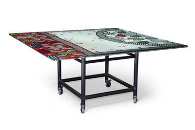 Isabelle de Borchgrave Table peinte II 136x136x71 18000EUR 1.JPG