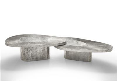 Isabelle de Borchgrave Tables basses aluminium avocat 28000EUR 4