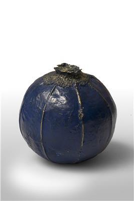 Isabelle de Borchgrave blue seed bronze 21x21 4500EUR