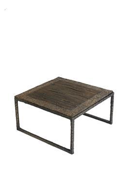 Isabelle de Borchgrave table basse carree plisse bronze 57x57x33 6500EUR
