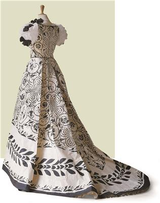 Isabelle de Borchgrave Paper Dresses 3674 Worth Credit Andreas von Einsiedel