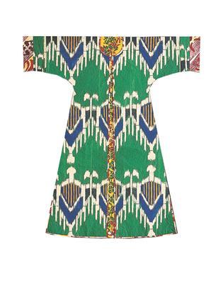 Isabelle de Borchgrave Paper Dresses 6951 FARAH Joie recto