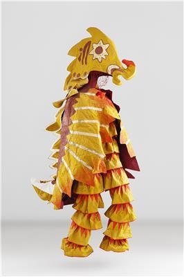 Isabelle de Borchgrave Paper Dresses 9274 Sadko Cheval de Mer 1