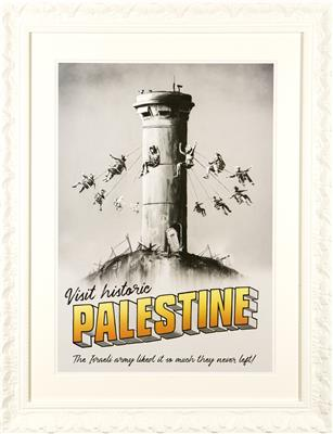 DEODATO ART Banksy Visit Historic Palestine The Walled Off Hotel poster