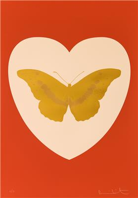 Deodato Art Visual Damien Hirst  I love you 2016 silkscreen on paper 100x70cm