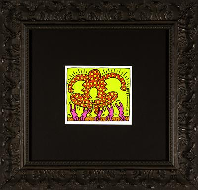 Deodato Art Visual Keith Haring Forza Invitation card 12x13,5cm
