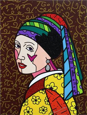 Deodato Art visual Romero Britto, Dutch Icon, Silkscreen on canvas, 101x76 cm, 2.300 euro