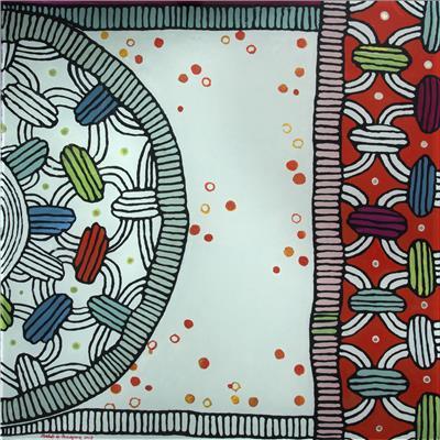 Isabelle de Borchgrave Table peinte II 136x136x71 18000EUR 2.JPG