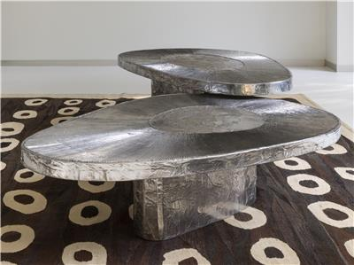 Isabelle de Borchgrave Tables basses aluminium avocat 28000EUR 1