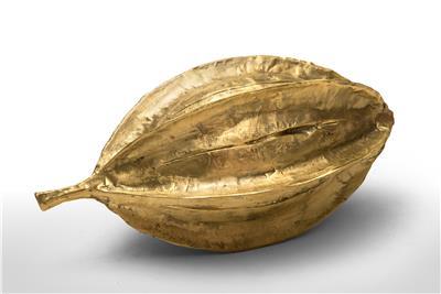 Isabelle de Borchgrave carambole seed bronze 42x21x20 4900EUR