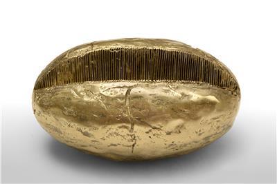 Isabelle de Borchgrave pleated seed bronze 26x15 3900EUR