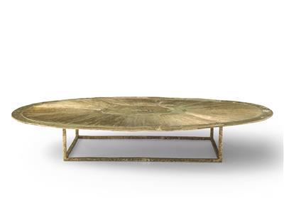 Isabelle de Borchgrave table basse ovale bronze 238x128 28000EUR.JPG