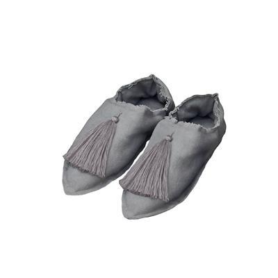 Valerie Barkowski babouches pompon cotton grey credit taniapanova 50EUR
