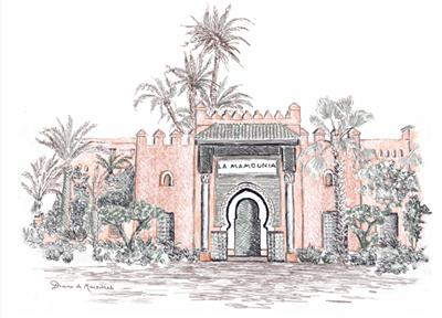 LA MAMOUNIA drawing