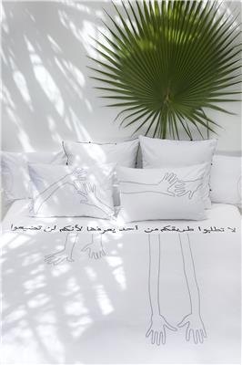 Valerie Barkowski bed linen blanc OTIS noir credit tania panova 4